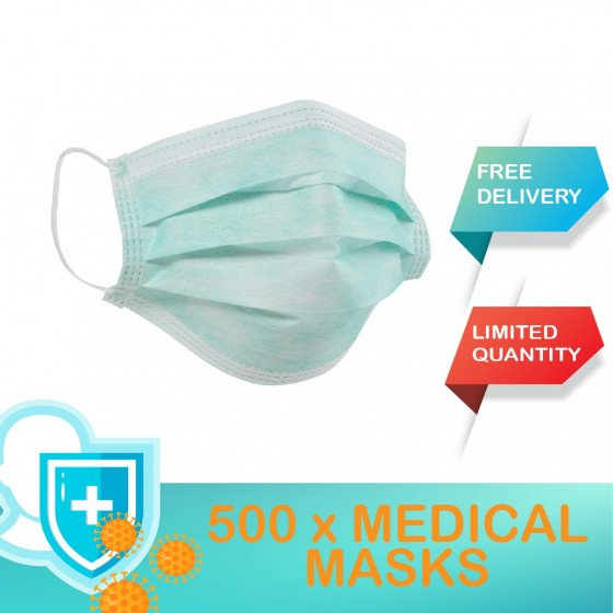 SOLD / BOX DI 500 MEDICAL MASKS (pagamento offline Bonifico bancario in Europa) BANK TT