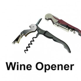 1Pc Stainless Wine Screw Corkscrew Opener Professional Waiter's Wine Bottle Beer Cap Opener Kitchen Drinking Bar Tools