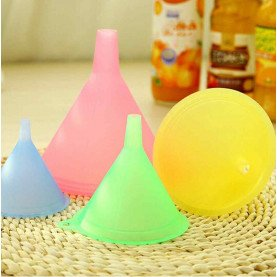 5 PCS Colorful Plastic Funnel Small Medium Large Variety Liquid Oil Kitchen Set funnel Small Medium Liquid Oil Large Variety Kit