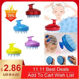 SILISCRUB - The Original Silicone Shampoo Brush Hair Washing Brush
