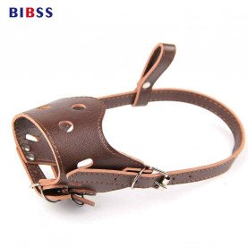 Adjustable Leather Muzzle for Dogs for Pitbull/German shepherd/Labrador Training Mouth Cover Pet Acessorios para cachorro