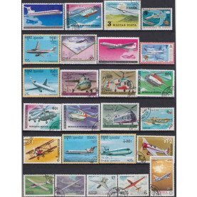 50Pcs/Lot Plane Aircraft All Different From Many Countries NO Repeat Unused Postage Stamps for Collecting