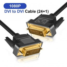 High speed DVI cable 1080p Gold Plated Plug Male-Male DVI TO DVI 24+1 plug cable 1M 1.8M 2M 3M for Projector LCD DVD HDTV XBOX