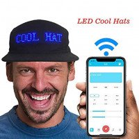 Caps LED bluetooth display multilingue